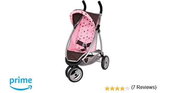 Amazon.es: Bayer Design - Cochecito de muñeca, Jogger, color castaño, rosa (39920AA): Juguetes y juegos