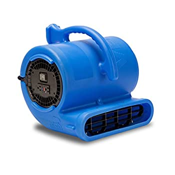Image of Floor Fans B-Air Vent VP-33 1/3 HP Air Mover Carpet Dryer Floor Fan for Plumbing Janitorial Water Damage Restoration Blue