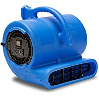 B-Air VENT VP-33 1/3 HP 2530 CFM Air Mover Carpet Dryer Floor Fan for Plumbing Janitorial Water Damage Restoration Blue
