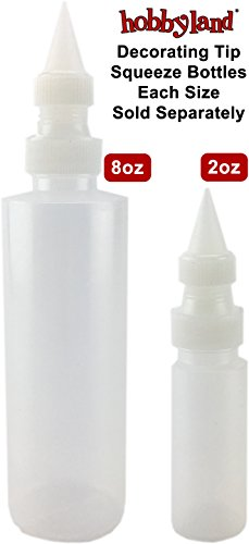 Hobbyland Squeeze Bottles with Fine Point Spout (8 oz, 3 (Fine Bottle)