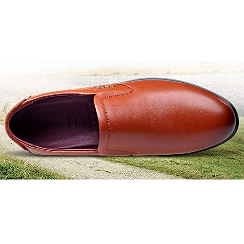 Urti Everyday Casual Orange Antiscivolo Scarpe Pelle Scarpe Assorbimento degli Uomo da Traspiranti Pigri in Leggero 8x00ZPw6q
