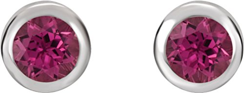 October Birthstone Stud Earrings, Rhodium-Plated 14k White Gold by The Men's Jewelry Store (for HER)