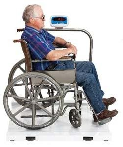 Salter Brecknell Physician Medical Wheelchair / Drum Scale 1000 lb X 0.5 lb MS1000, Brand New