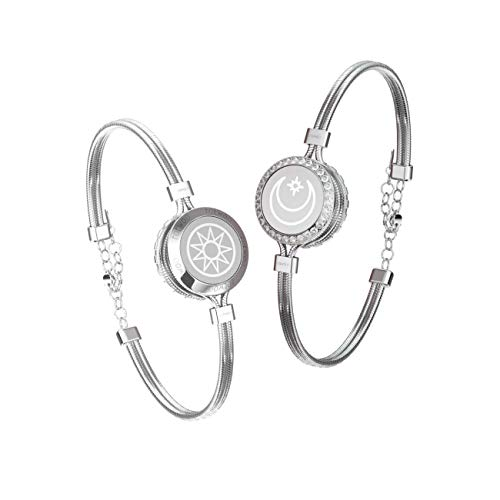 Smart Jewerly Couple Bracelets Touch To Send Out Your Love,Silver
