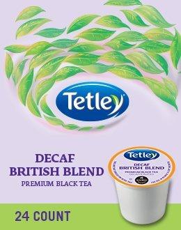 Tetley Tea Decaf (Tetley British Decaf Blend Premium Black Tea 96 K Cups)