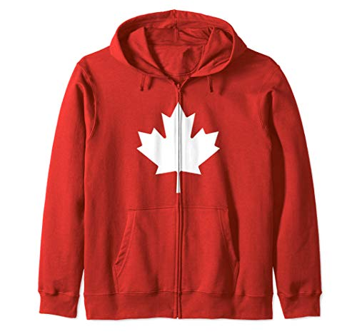 (Canada Flag Maple Leaf Proud Canadian Gift Zip Hoodie)