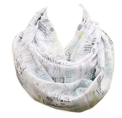 (Architectural infinity Scarf Gift for architects construction interior designer architect birthday gift for her graduation)