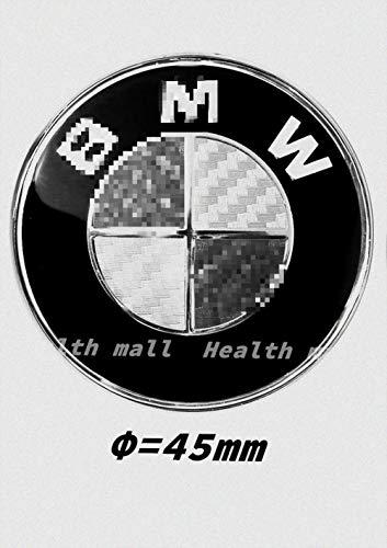 Steering Wheel Carbon Adhesive Logo Badge Fits for B M W 1 3 5 6 7 Z3 Z4 X5 X6 E46 E90 E39 E60 GT E30 E36 E46 E34 E65 E38 Black Carbon Fiber 3D Sticker(45mm) (Black Carbon Fiber Bmw Emblem)