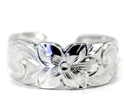 silver scroll ring - 8