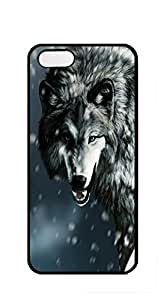 TUTU158600 Hard Back Shell Case Cover case iphone 5s boys - Leisurely White Wolf