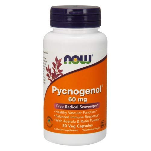 Pycnogenol, 60 mg, 50 Vcaps by Now Foods (Pack of 4)
