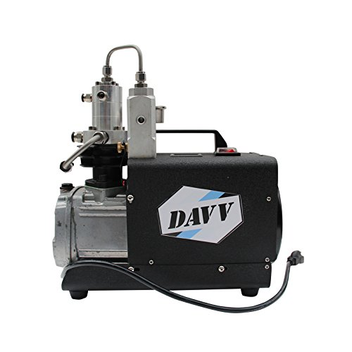 (DAVV SCU30 High Pressure Air Compressor for Paintball PCP Airgun Rifle Scuba Tank Filling, 110v, Up to 4500 psi, US After-Sales Service)