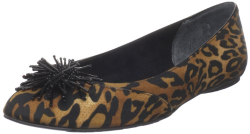 J.Renee Womens Darcy Ballet Flat Black/Brown