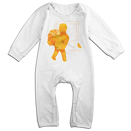 JOYJUN Pick Yourself Up And Carry On Orange Cute Unisex Baby Print Jumpsuit Playsuit Outfits (Hindi Outfit)