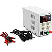 Pevono DC Bench Power Supply Variable, PS305 0-30V/0-5A 3 Digital LCD Display High Voltage&Current Adjustable Switching Regulated Power Supply with US Power Cord For Lab Equipment,Research and DIYer