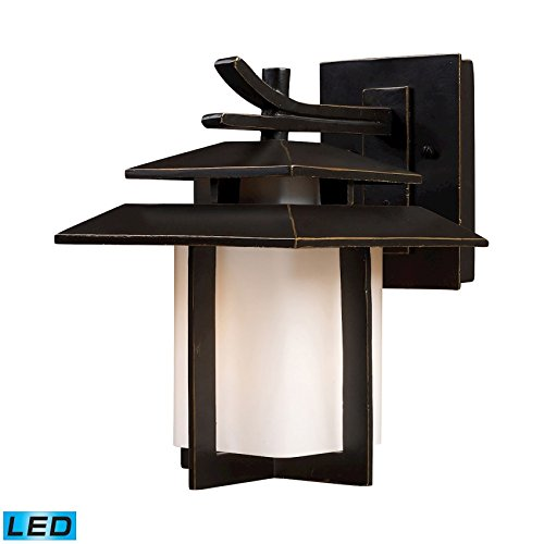 - Elk Lighting 42170/1-LED Kanso 1 Light Outdoor Hazelnut Bronze-LED Offering Up to 800 Lumens (60 Watt Equivalent) Sconce,