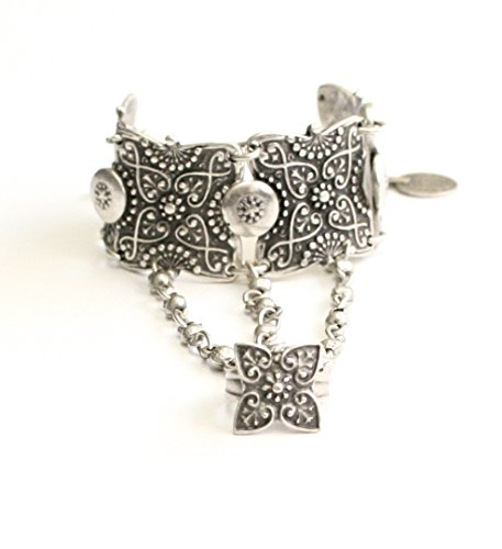 Pewter Slave Bracelet - Chanour Jewelry Hand Made Pewter Bracelet-Hand Chain