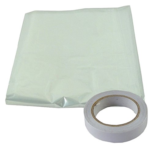 Bulk Hardware BH04947 StormSeal Window Insulation Secondary Double Glazing Shrink Film Kit, Supplied with Double Sided Tape, Covers 6 x 1.5 Metres 9.0 Sqm (19'6 inch x 4'11 inch /  95sq ft)