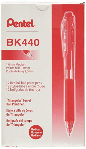 (Pentel BK440B WOW! Retractable Ballpoint Pen, 1mm, Red Barrel/Ink (Pack of 12))