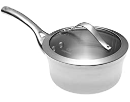 Calphalon Contemporary Stainless 1-1/2-Quart Saucepan with Glass Lid