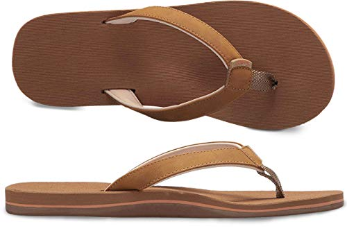 Scott Hawaii Size 10 Sandals for Women   Panina Tan Breathable Flip-Flop Combed Footbed   Soft Neoprene Straps   Multilayered Arch Support