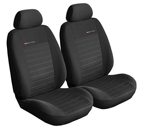 Carpendo stoelhoezen auto voorstoelen auto stoelhoezen vooraan donkergrijs-grijs met airbag systeem – Elegance P1…