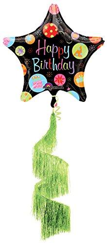 Anagram International Happy Birthday Bursts Shag Coil Tail Air Walker, Multicolor (Walker Tail)