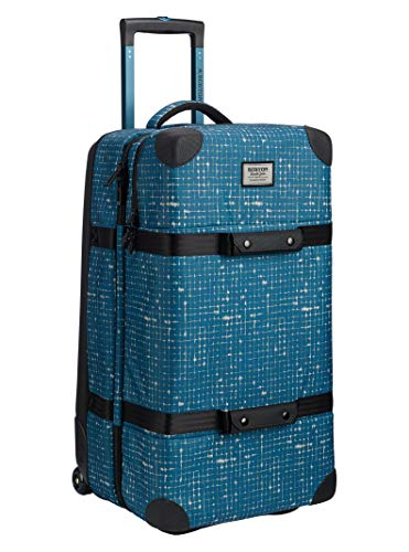 - Burton Wheelie Double Deck Travel Bag, Blue Sapphire Ripstop Texture Print