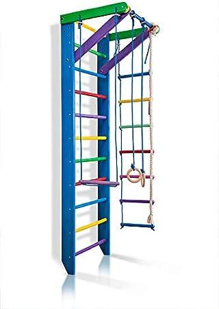 KindSport Escalera Sueca Barras de Pared Sport-2-220-Azul, Gimnasia de los niños en casa, Complejo Deportivo de Gimnasia: Amazon.es: Juguetes y juegos