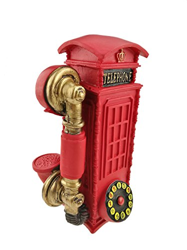 Winterworm Vintage Resin London Telephone Booth Pattern Popular Piggy Bank Money Box Home Decoration Christmas Birthday Festival Kids Gifts (Birthday Decorations London)