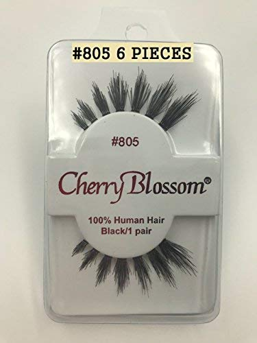 25bfa2941be Amazon.com : Cherry Blossom Fake Eyelashes Style #805 100% HUMAN HAIR (2  PIECES) : Beauty