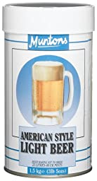 Muntons American Style Light Beer Making Kit, 53-Ounce Can
