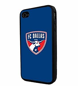 diy zhengSoccer MLS FC DALLAS SOCCER CLUB FOOTBALL , Cool iphone 5/5s/ Smartphone Case Cover Collector iphone TPU Rubber Case Black