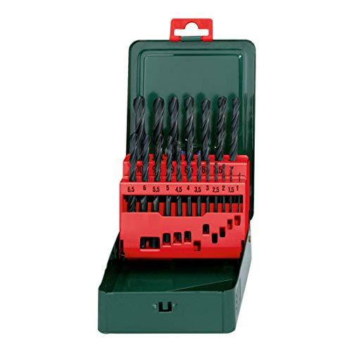 Metabo 627151000 HSS-R Twist Drills (19 pcs.), Green