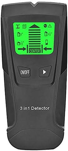 Nrpfell 3 en 1 Detector de Metales Encontrar Metal Esp/árragos de Madera Ac Voltaje Cable en Vivo Detectar Esc/áner de Pared Buscador de Cajas El/éctricas Detector de Pared