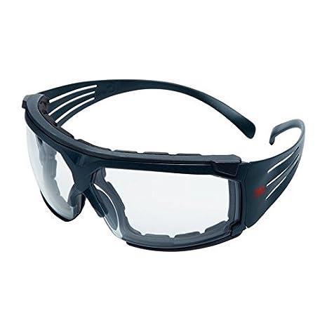 3M SF601SGAF/FI Gafas de Seguridad, Montura gris, Inserto, Scotchgard Anti-empañamiento, Lente Incolora, 1 unidad/caja