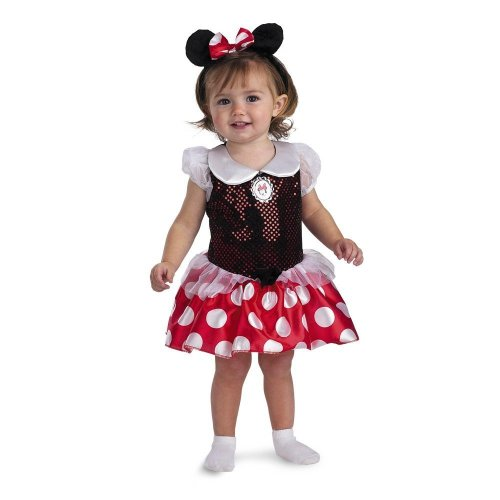 Costume Halloween Make Mime (Minnie Mouse Infant Costume, Size: 12-18)