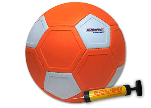 Kickerball - Curve and Swerve Soccer Ball/Football Toy - Kick Like The Pros, Great Gift for Boys and Girls - Perfect for Outdoor & Indoor Match or Game, Bring The World Cup to Your Backyard -