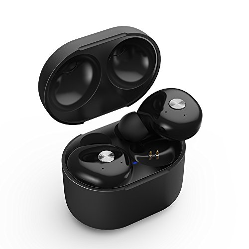 True Wireless Earbuds, iyesku Sports Bluetooth Headphones with Portable Charging Case, Premium Sound Anti-Falling Exercise Running Earphones, Mini Twins Stereo Headset for iPhone and Android YK-T03