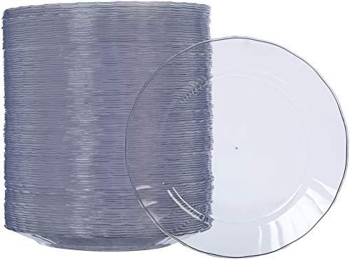 AmazonBasics Disposable Plastic Plates - 100-Pack, 7.5-inch (Renewed)