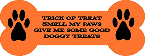 Halloween Dog Bone Dog House Metal trick or treat Sign -