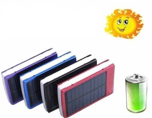 50000mAh SOLAR Power Bank Charger External HIGH CAPACITY Backup Battery Universal Travel Flashlight Portable Emergency for USB Devices: Smartphones (Samsung Galaxy, Apple iPhone, HTC, Nokia, etc.), Android Tablets, Cameras, Music Players, iPad, GPS &