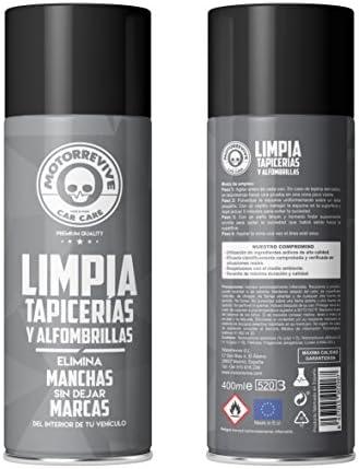 Motorrevive - Limpia Tapicerias y Alfombrillas Coche Profesional - 400 ml & AmazonBasics - Bayeta ultragruesa de Microfibra (3 Unidades): Amazon.es: Coche y moto