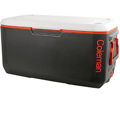 Coleman Company Signature 120-Quart Xtreme Cooler, Grey/Orange by Coleman