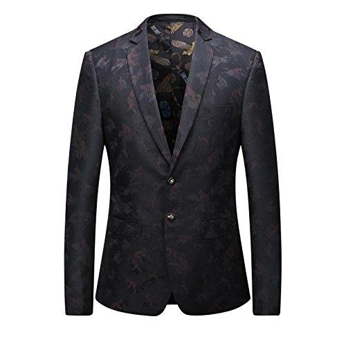 British Style Freizeitanzug Mode Freizeitanzug männer dunkel Stempel größe einreihig Anzug,Rot - rot,6,50