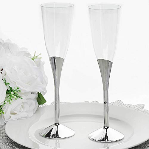 (Efavormart 30 Pcs 6oz Disposable Clear Plastic Champagne Flutes for Wedding Birthday Party Banquet Events Cocktail Cups -)