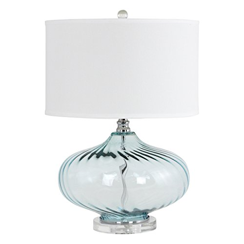 Aspire Table Lamp Kamille Glass, Blue (Table Aspire Lamp)
