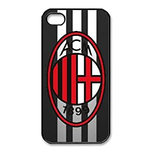 AC Milan For iPhone 4,4S Case Cell phone Case Kjyv Plastic Durable Cover