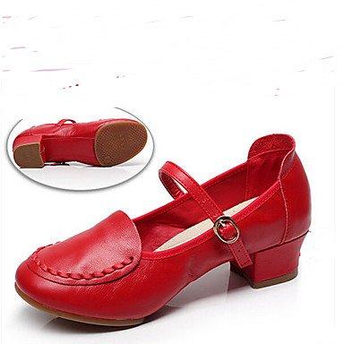 Moderno Tacón Negro Plano de Personalizables Plata Latino Black baile Rojo Zapatos xEYnFwq8q