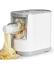 Razorri Helautomatisk pastamaskin elektrisk pastamaker – gör 350 g hemlagad nudlar på 10 minuter – 6 pastaformer – spaghetti, fetttillverkare, penna, makaroni